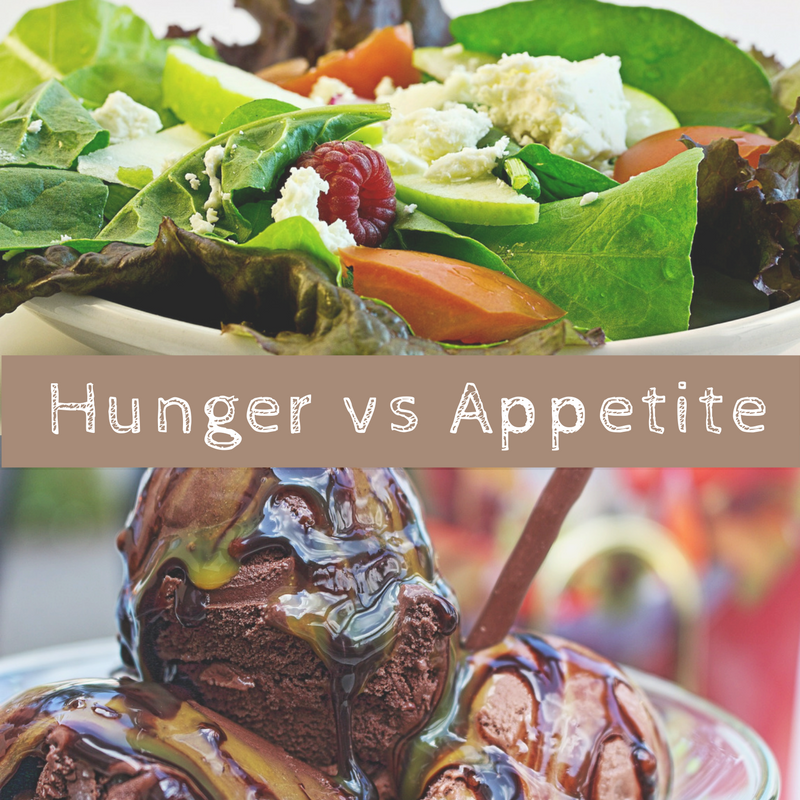 Image result for difference between hunger and appetite